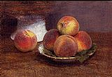 Henri Fantin-Latour Bowl of Peaches painting