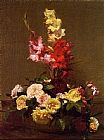 Henri Fantin-Latour Gladiolas and Roses painting