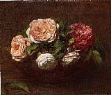 Henri Fantin-Latour Jonquils and Nasturtiums painting