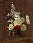 Henri Fantin-Latour Mixed Flowers painting