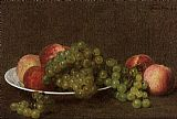 Henri Fantin-Latour Peaches and Grapes painting