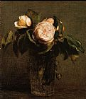 Henri Fantin-Latour Roses in a Tall Glass painting