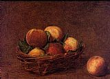 Henri Fantin-Latour Still Life with Peaches painting
