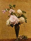 Henri Fantin-Latour Vase of Peonies and Snowballs painting