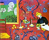 Henri Matisse Harmony in Red painting
