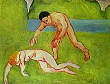 Henri Matisse Satyr and Nymph painting