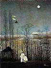 Henri Rousseau A Carnival Evening painting