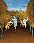 Henri Rousseau The Football Players painting