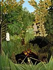Henri Rousseau The Merry Jesters painting