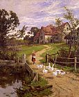 Henry H. Parker A Berkshire Homestead painting