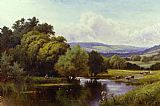 Henry H. Parker The Mole, Dorking, Surrey painting