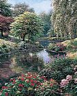 Mediterranean paintings - Longmeadow Pond by Henry Peeters