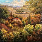 Hulsey Mediterranean Valley Farm painting