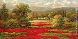 hulsey Paintings - Poppy Village