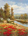 hulsey Paintings - Poppy Vista I