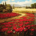 hulsey Paintings - Red Poppy Trail