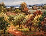 Hulsey Sun Dappled Country Road painting