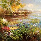 hulsey Paintings - Village Pond