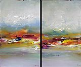 Ioan Popei Abstract Diptych painting