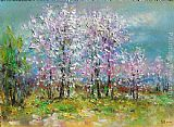 Ioan Popei Spring Landscape painting