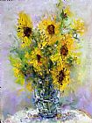 Ioan Popei Yellow Flowers 01 painting