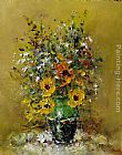 Ioan Popei Yellow Flowers 03 painting