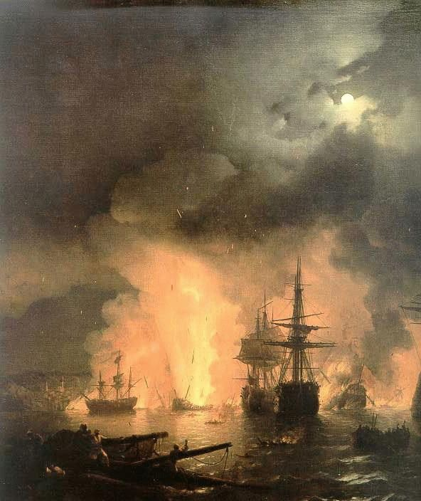 Ivan Constantinovich Aivazovsky Battle of Chesma