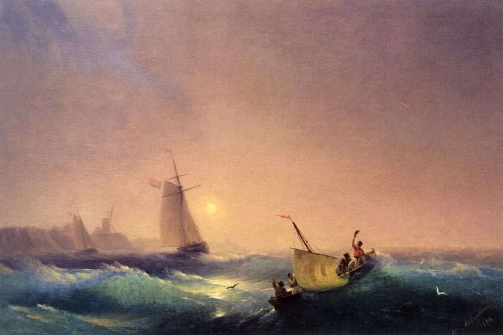 Ivan Constantinovich Aivazovsky Shipping off The Dutch Coast