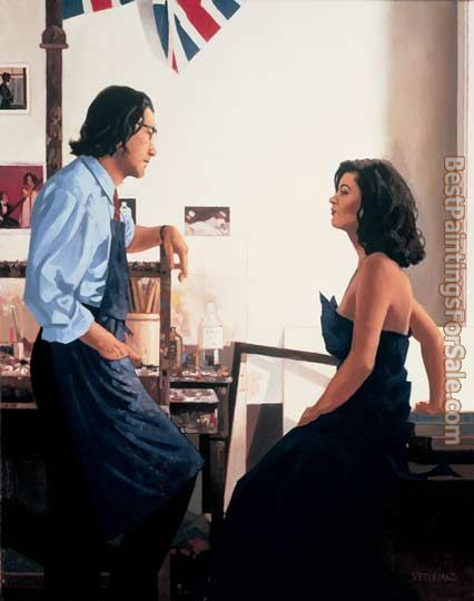 Jack Vettriano Artist and Model