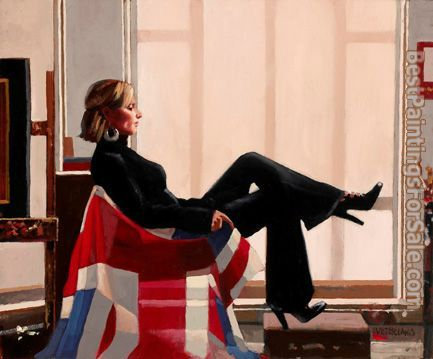 Jack Vettriano Olympia portrait of Zara Philips