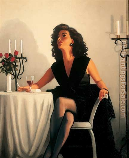 Jack Vettriano Table for One