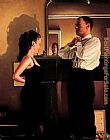 Jack Vettriano Between Darkness and Dawn painting