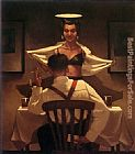 Jack Vettriano Busted Flush painting