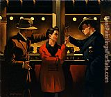 Jack Vettriano Cleo and the Boys II painting