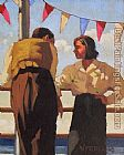 Jack Vettriano Couple On The Promenade painting