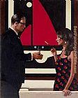 Jack Vettriano Lounge Lizards painting
