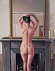 Jack Vettriano Model at Mirror painting