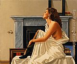 Jack Vettriano Model in White 1993 painting