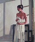 Jack Vettriano Model in White painting