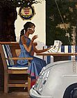 Jack Vettriano Morning News painting