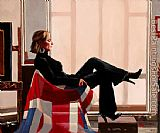Jack Vettriano Olympia portrait of Zara Philips painting