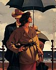 Jack Vettriano Right Time_ Right Place painting