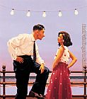 Jack Vettriano The Big Tease painting