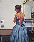 Jack Vettriano The Blue Gown painting