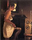 Jack Vettriano The White Slip painting