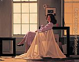Jack Vettriano Winter Light and Lavender painting