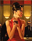 Jack Vettriano Working the Lounge painting
