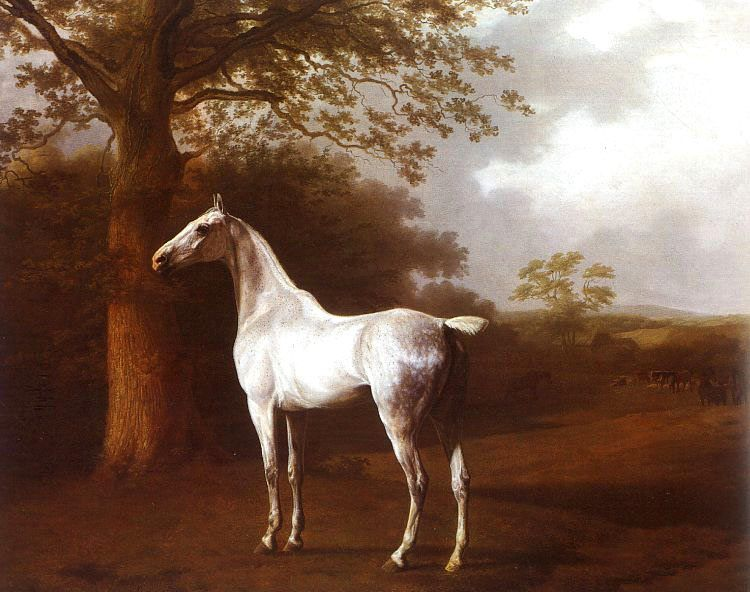 Jacques Laurent Agasse White Horse in Pasture
