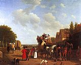Jacques Laurent Agasse The Last Stage on the Portsmouth Road painting