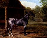 Jacques Laurent Agasse lord Rivers' Roan mare In A Landscape painting